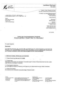 2016.10.04 - Erlaubnis gemaess §11 Absatz 1 Satz 1 Nr.8 Buchstabe f des Tierschutzgesetzes
